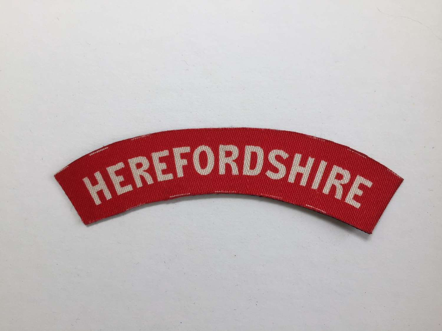 WW2 printed Herefordshire shoulder title