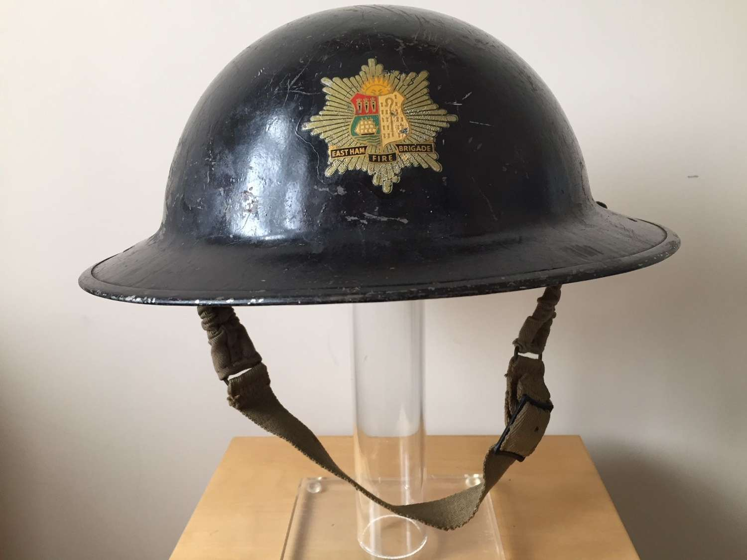 An attributed Fire Brigade steel helmet