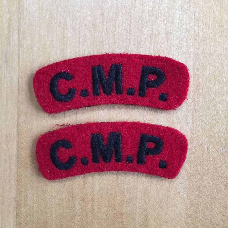 WW2 Corps of Military Police shoulder titles