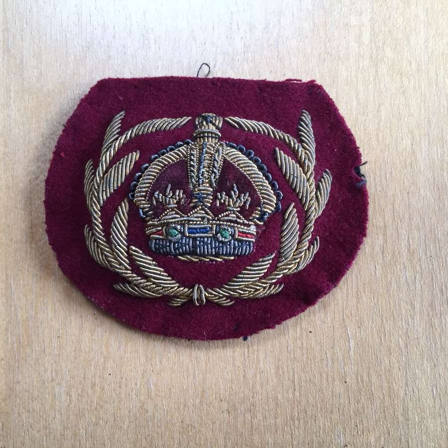 RAMC Warrant Officer's bullion rank badge