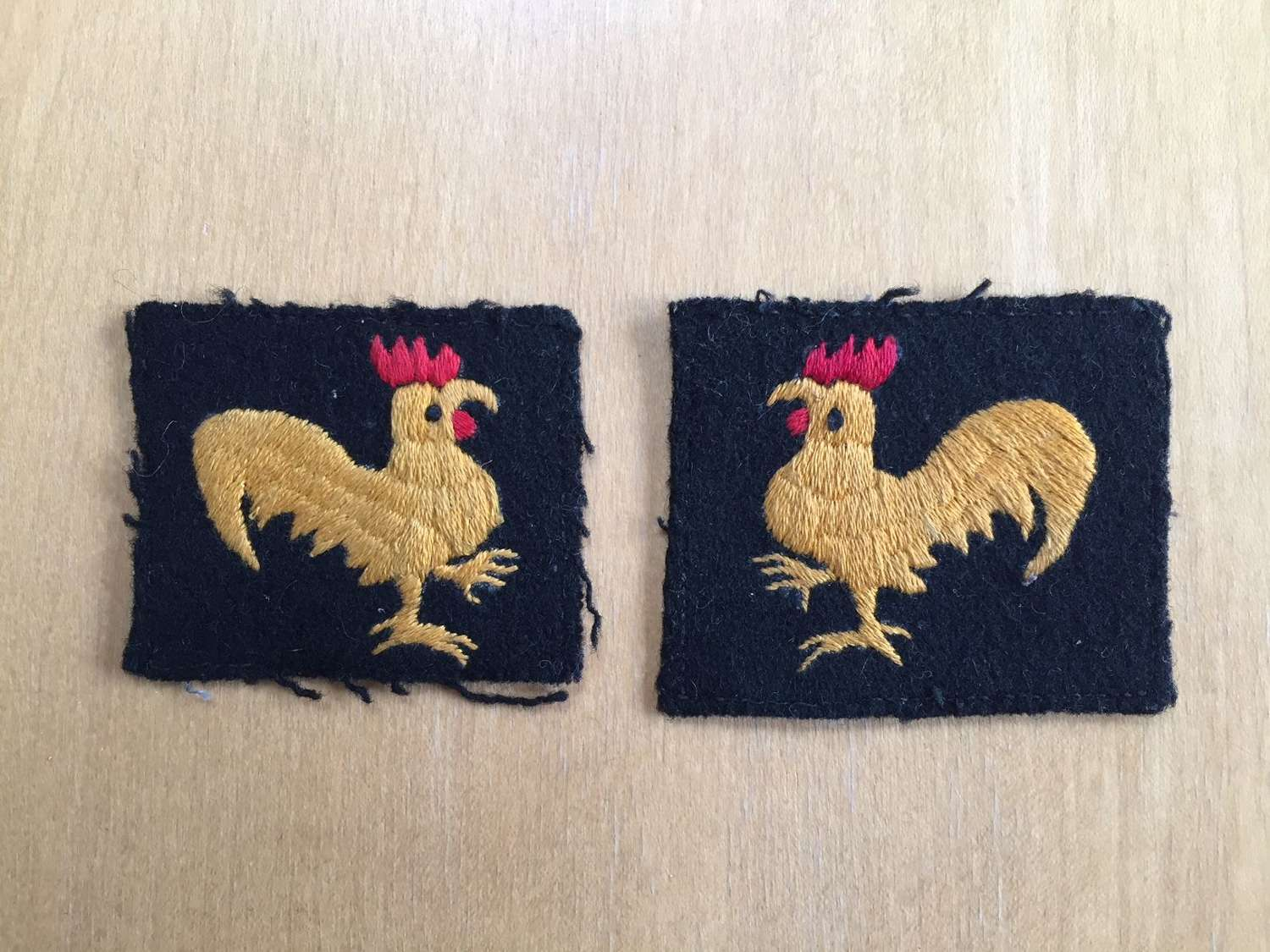 40th Division pair of embroidered formation signs