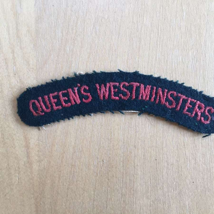 Queens Westminster Rifles shoulder title