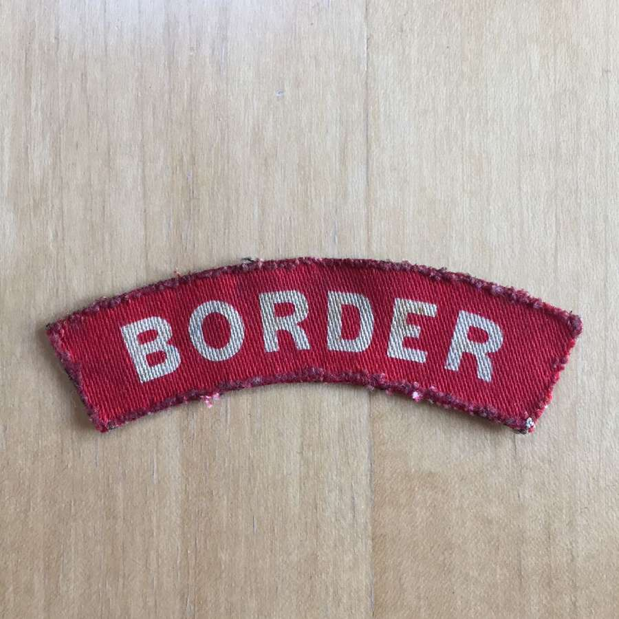 WW2 Border Regiment printed shoulder title