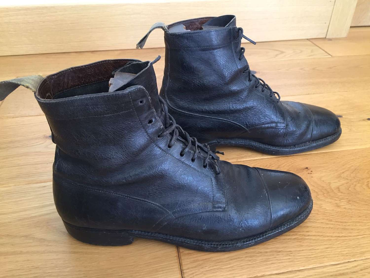 WW1 or WW2 Officer's private purchase boots