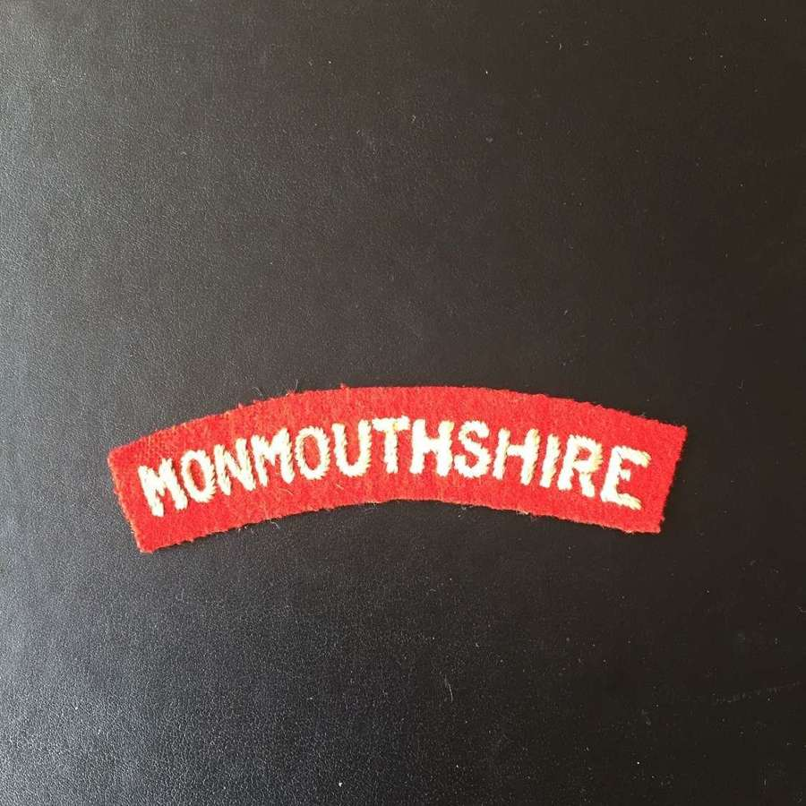 WW2 Monmouthshire shoulder title